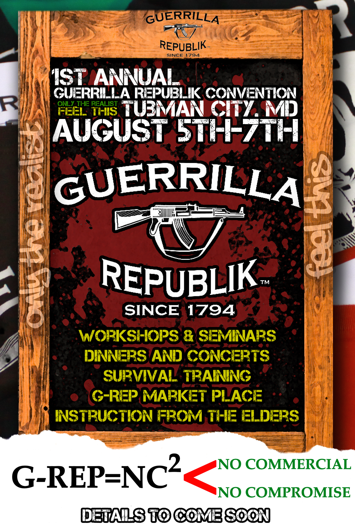 Jehuniko's Information Revolution Volume 63: The 1st annual Guerrilla Republik Convention 