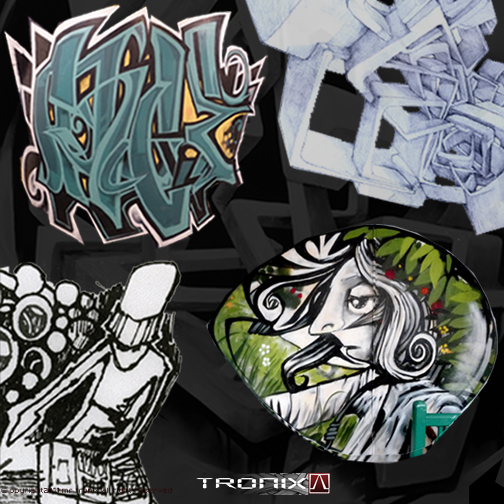 Street artist MR. TRONIX launches new website, prints for sale & commissions