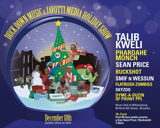 Talib Kweli x Sean Price x Flatbush Zombies x Pharoahe Monch in Brooklyn Dec. 18th!
