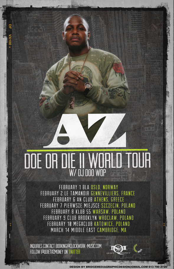 AZ Announces 1st Leg of 'Doe Or Die II' World Tour With DJ Doo Wop