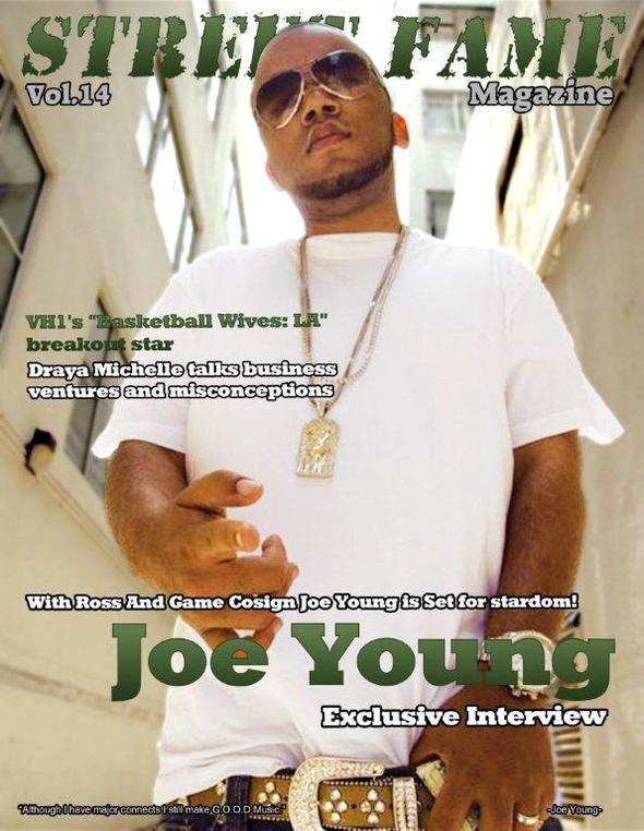 Joe Young Graces Cover of Street Fame Magazine
