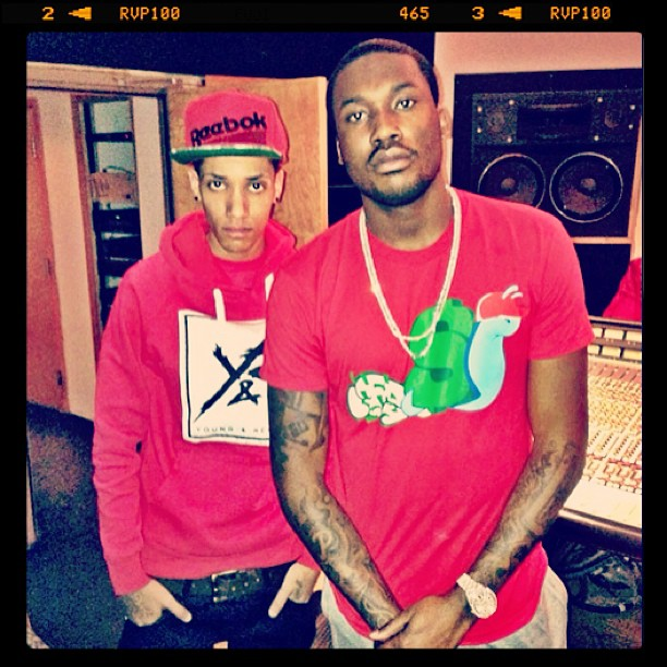 Meek Mill & Jahlil Beats In The Studio Working On 'Dreamchasers 3' (Photo)