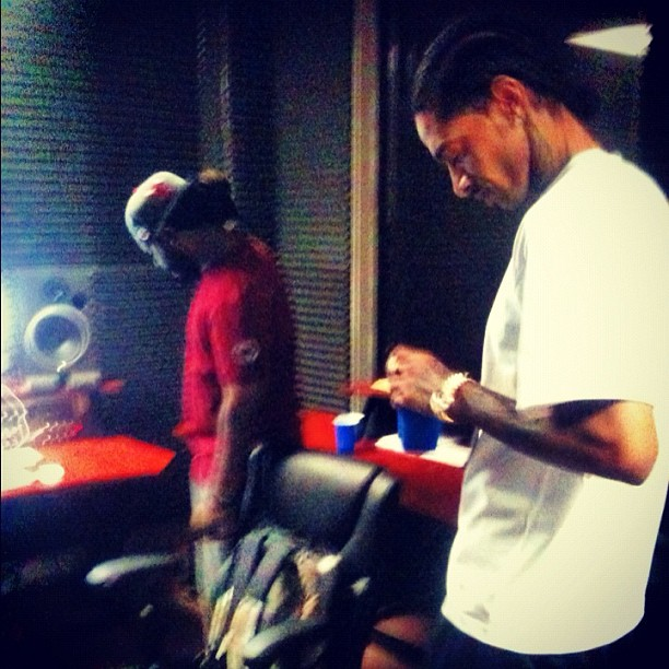 T-Pain & Nipsey Hussle In The Studio (Pic)