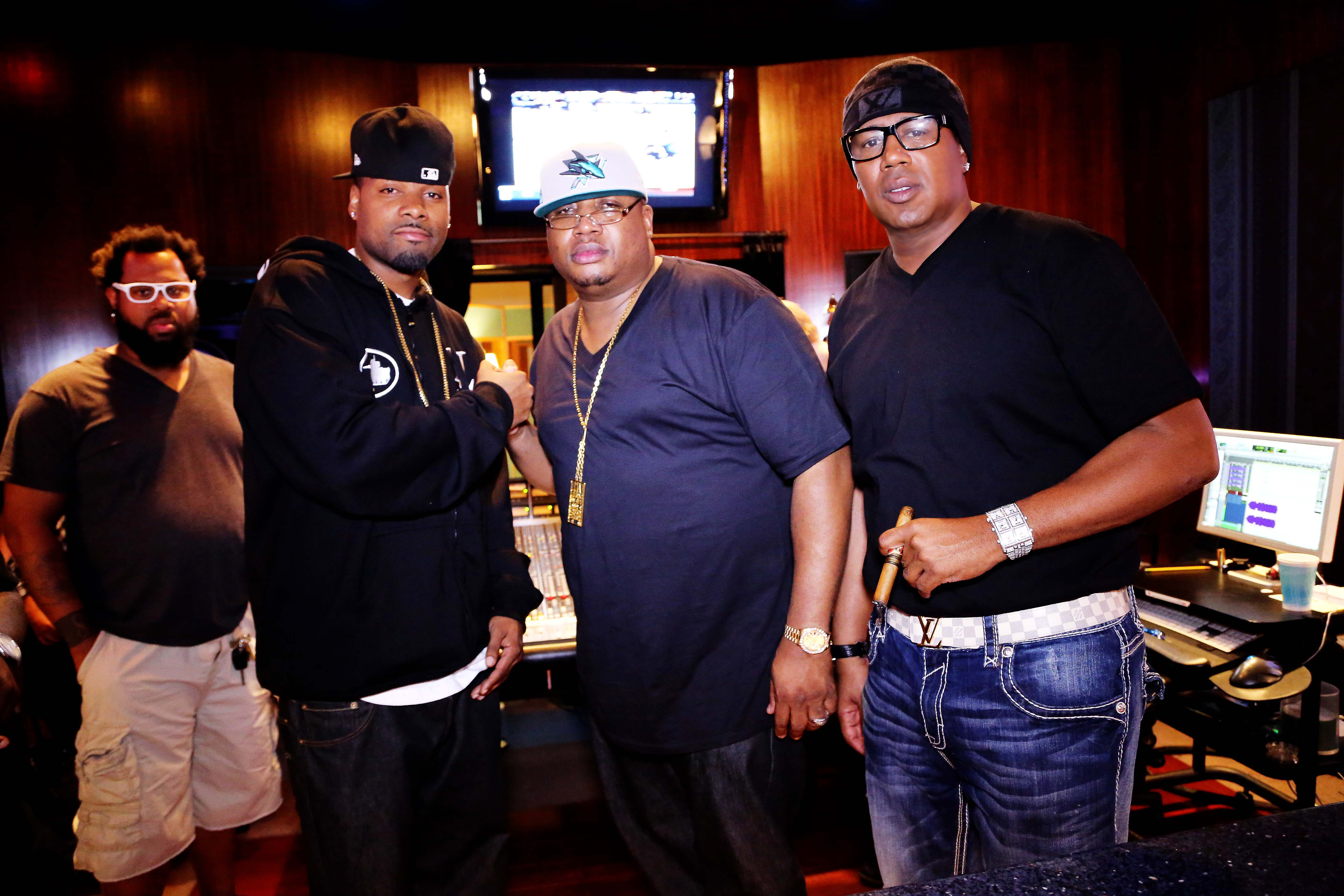 Keisha Cole E-40 and Others Join Master P In Studio Magic (Pics)
